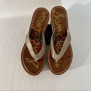 Sam Edelman | Cork wedge strap sandals color tan